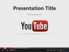 Free Youtube PPT Template, a PowerPoint background with a Youtube theme in the slide design