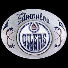 Edmonton Oilers NHL Enameled Belt Buckle