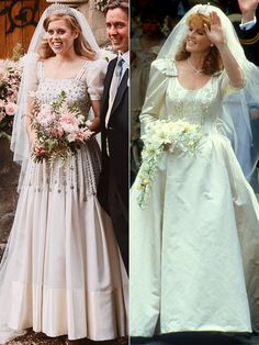 Princess Beatrice Wedding, Princess Eugenie And Beatrice, Royal Wedding Gowns, Royal Weddings, Wedding Dresses, Princesa Beatrice, Princesa Diana, Windsor, Eugenie Of York