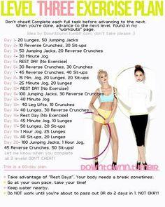 Level 3 Exercise  plan
