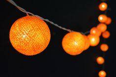 35 Lights - Gold Cotton Ball String Lights Fairy Lights Patio Lights Wedding Lights Decoration Lights