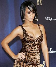 Rihanna's Colored Bob Hairstyle for black women african hairstyles   African American Hairstyles Photos 2012