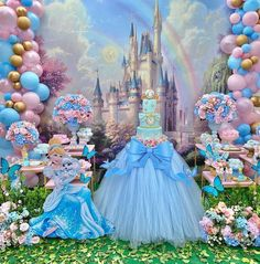 Princess Birthday Party Decorations, Disney Princess Birthday Party, Cinderella Birthday, 1st Birthday Girls, Birthday Party Themes, Cinderella Theme, Instagram, Videos, Disney Princess Birthday