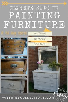Paint me pretty! A beginners guide tutorial with all the basics of painting furniture!