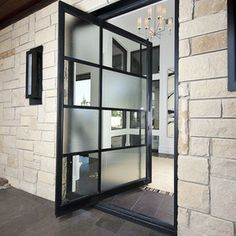 FRONT DOOR IDEAS – Among the very first points about a house that a guest or home buyer notices are the front doors. If you wish to make a statement, upgrading or overhauling your front door … Design Entrée, Porte Design, Design Case, Door Design, Design Ideas, Entrance Design, Facade Design, Pivot Doors, Entry Doors