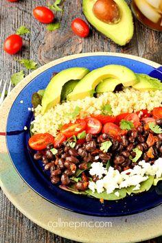 Black Bean Tomato Quinoa Salad with Texas Vinaigrette