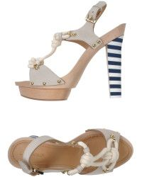 DSquared2 White Sandals - Lyst