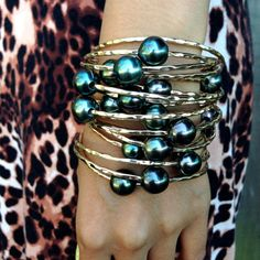 Bracelet perle Tahiti spécial 14kt or rempli de par MishaHawaii