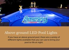 These high-quality Nicheless LED Underwater Lights are Corrosion free,Waterproof & to be used for Pools,Ponds,Lakes,Fountains Above Ground Pool, In Ground Pools, Inground Pool Lights, Underwater Led Lights, Different Light, Night Time, Swimming Pools, Paradise, Homes