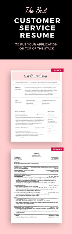Resume Template - CV Template - Free Cover Letter - MS Word on Mac - free customer service resume templates