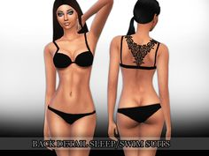 Back Detail Swim and Sleep Suits design by Saliwa  Found in TSR Category 'Sims 4 Female Sleepwear'