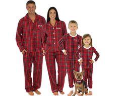 Embroidered Family Christmas Pajamas Personalized by FamilyPajamas ffe7bea95
