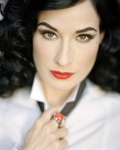 Burlesque dancer Dita von Teese poses for a portrait shoot in London for Times magazine on July 29, 2008.