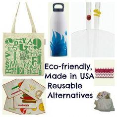 Eco-friendly, reusable plastic alternatives #madeinusa