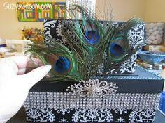 How to make an elegant wedding card box!