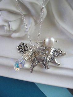 Polar bear charm necklace
