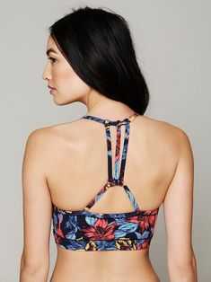 Like the back. Not the price. Free People Printed Sports Bra.