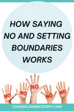 Learn the value of boundaries and saying no in relationships especially when codependency is an issue. #relationships #boundaries #no #limits #codependency Boundaries Quotes, Codependency Recovery, Relapse Prevention, Signs Of Stress, Setting Boundaries, Interpersonal Relationship, Coping With Stress, How To Gain Confidence