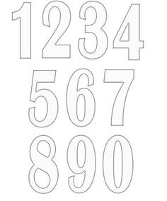 free printable number templates