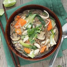Asian-Style Chicken Noodle Soup. Maybe too many ingredients that you don't have?