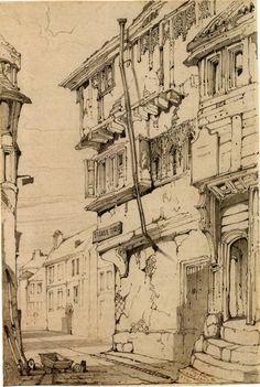 """Fisher Street, Carlisle"" (1837), by John Ruskin"