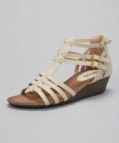 Look at this #zulilyfind! Beige Celosia Wedge Sandal #zulilyfinds