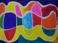 Δρόμοι από κόλλα δρόμοι μαγικοί δρόμοι ενωμένοι δρόμοι χωριστοί Χρώμα μες το χρώμα εικόνες μαγικές θυμίζουν παραμύθια και...άλλες εποχές! Μια ωραία τεχνική ζωγραφικής με ρευστή κόλλα και μαρκαδόρου...