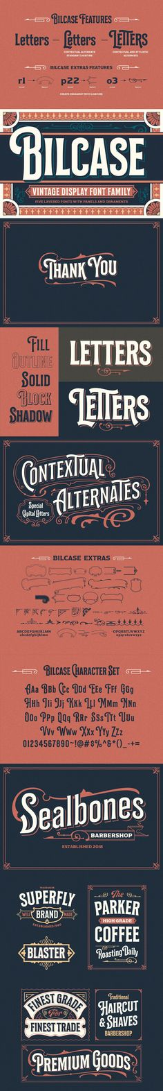 Bilcase font family is layered condensed font family come from vintage logo, labels, packages, and signage. Condensed Font, Create Labels, Freelance Graphic Design, Adobe Indesign, Block Lettering, Font Family, Tattoo Fonts, Letterhead