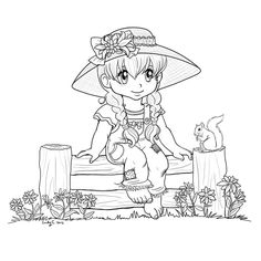 lily_sitting_on_a_fence_by_otaku1811-d4zxiev.jpg (894×894)
