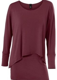 Heine Layer Top at EziBuy New Zealand. Buy women's, men's and kids fashion online. Heine, Layers Design, Layered Tops, Batwing Sleeve, Casual Look, Fall Outfits, Shirts, Mens Tops, How To Wear