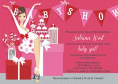 Christmas Winter Holiday Baby Shower Invitation