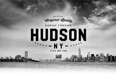 Hudson NY   Display Font on Behance