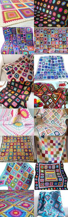 maRRose - CCC: Treasury Tuesday - Crochet Granny Squares by Marianne Dekkers-Roos on Etsy--Pinned+with+TreasuryPin.com