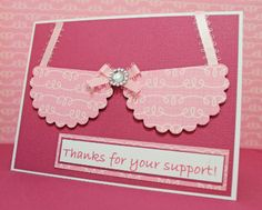 Cute idea for Race for the Cure TY cards!