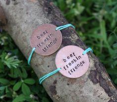 Frayed Best Freakin Friends Bracelets  #frayedjewelry #bff #bestfriend #bracelet
