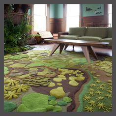 Interesting felted floor - Angela Adams | Area Rugs | Treasure Tapestries | Forest Floor