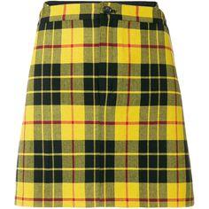 Junya Watanabe Comme Des Garçons tartan mini skirt (10.567.155 VND) ❤ liked on Polyvore featuring skirts, mini skirts, bottoms, short tartan skirt, short mini skirts, plaid skirts and tartan skirt