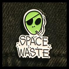 Space Waste Alien Enamel Pin