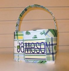 John Deere Fabric Easter Basket by MsSewItAll32 on Etsy, $18.00