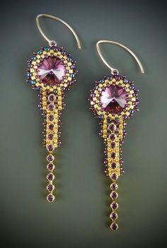 Deco Earrings Kit, amethyst & gold