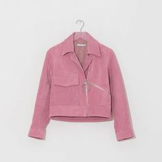 Perfectly pink suede from Rejina Pyo #bikerjacket #pink #style #thedreslyn