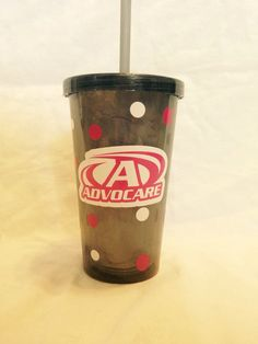 Advocare inspired double sided tumbler we by TheLittleSparkleShop