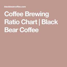 Coffee Brewing Ratio Chart | Black Bear Coffee