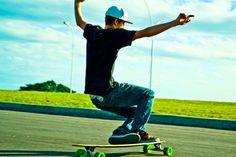Longboarding on sk8