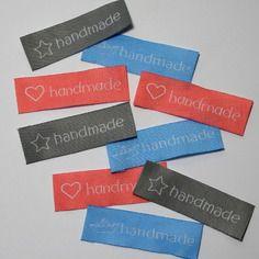5 étiquettes tissées - étiquettes à coudre - handmade  60x20mm 5€ les 15