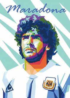 Pop Art Posters, Movie Poster Art, Vintage Posters, Poster Prints, Football Images, Football Art, Maradona Football, Messi Soccer, Basketball