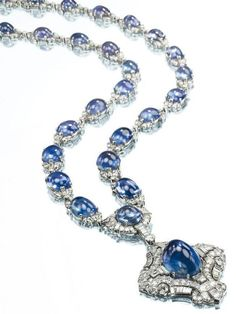 An Art Deco Sapphire and Diamond Sautoir, by Bulgari