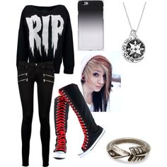 Untitled #8 by art-of-depression on Polyvore featuring polyvore fashion style Paige Denim TOMS C6
