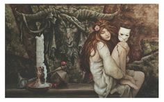 Brian Froud's concept art for Sarah from 'Labyrinth'.