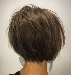 Short Choppy Brown Bob